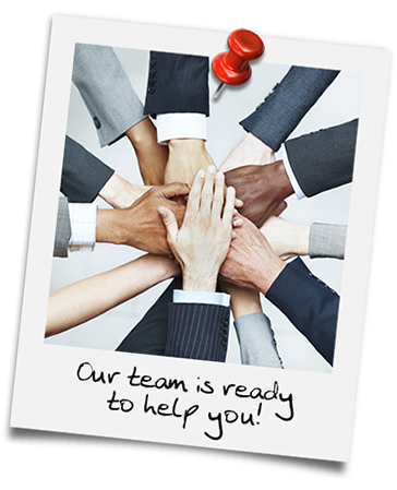 Our Team is ready to help you!