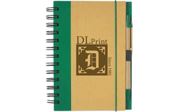 "EcoFriendly 5""x7"" Spiral Notebook and Pen"