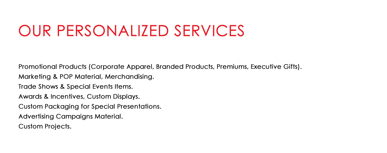 Our Personalized Services